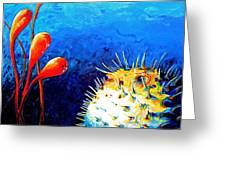 Blow Fish Greeting Card