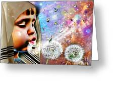 Blowing Blessings Greeting Card