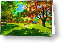 Blowing Rock Park Greeting Card