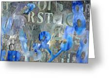 Blu Greeting Card