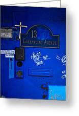 Blue 13 Greeting Card