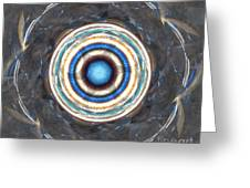 Blue Abalone Sphere Greeting Card