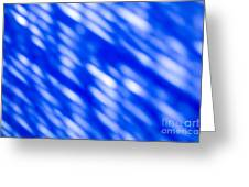 Blue Abstract 1 Greeting Card