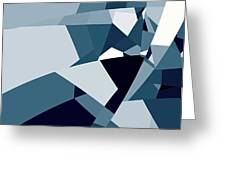Blue Abstract 2 Greeting Card
