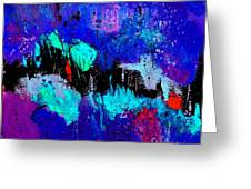 Blue Abstract 55698 Greeting Card