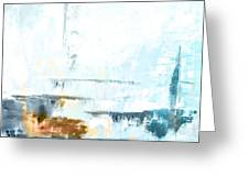 Blue Abstract 12m1 Greeting Card