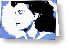 Blue - Abstract Woman Greeting Card