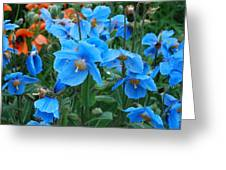 Blue After The Rain Greeting Card