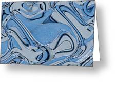 Blue And Gray Greeting Card