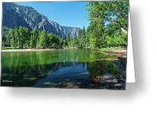 Blue And Green River Greeting Card