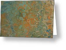 Blue And Orange Greeting Card