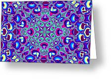 Blue And Pink Wallpaper Fractal 71 Greeting Card