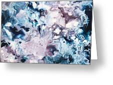 Blue And Purple Greeting Card