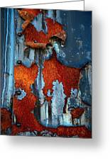 Blue And Rust Greeting Card