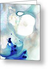Blue And White Art - A Short Wave - Sharon Cummings Greeting Card