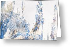 Blue And White Art - Ice Castles - Sharon Cummings Greeting Card
