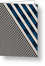 Blue And White Diagonals Greeting Card
