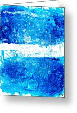 Blue And White Modern Art - Two Pools 2 - Sharon Cummings Greeting Card