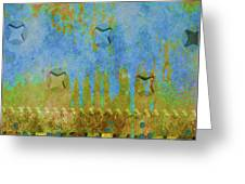 Blue And Yellow Abstract Greeting Card