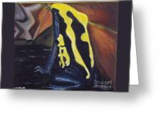 Blue And Yellow Poison Dart Frog Greeting Card