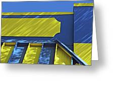Blue And Yellow Shadows Greeting Card