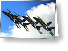 Blue Angel Fly By Greeting Card