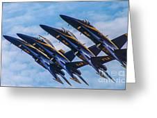 Blue Angels Ascending Greeting Card