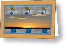 Blue Angels At Sunset Greeting Card