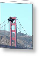 Blue Angels Crossing The Golden Gate Bridge 3 Greeting Card