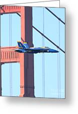 Blue Angels Crossing The Golden Gate Bridge Greeting Card by Wingsdomain Art and Photography