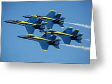 Blue Angels Diamond Formation Greeting Card