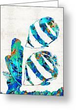 Blue Angels Fish Art By Sharon Cummings Greeting Card