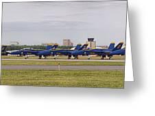 Blue Angels Flight Line Greeting Card