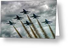 Blue Angels In Formation Greeting Card