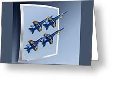 Blue Angels - Oof Greeting Card