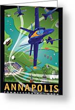 Blue Angels Over Annapolis Usna Greeting Card