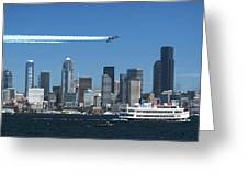 Blue Angels Over Seattle D028 Greeting Card