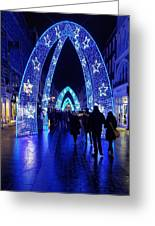 Blue Archways Of London Greeting Card