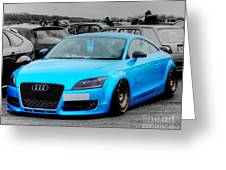 Blue Audi Greeting Card