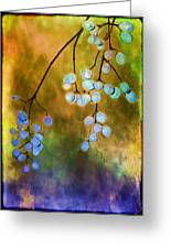 Blue Autumn Berries Greeting Card