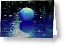 Blue Ball 4 Greeting Card