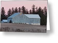 Blue Barn Greeting Card