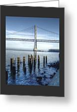 Blue Bay Bridge Greeting Card