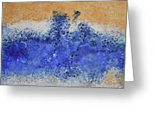 Blue Beach Bubbles Greeting Card