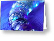 Blue Beads 1 Greeting Card