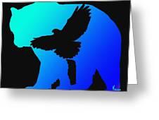 Blue Bear    -024 Greeting Card