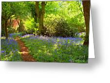 Blue Bells  Flower Greeting Card