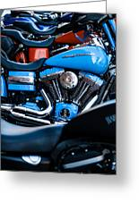 Blue Bike Greeting Card by Tony Reddington