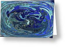 Blue Bird Abstract Greeting Card