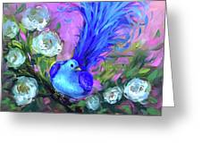 Blue Bird Christmas Wish Greeting Card